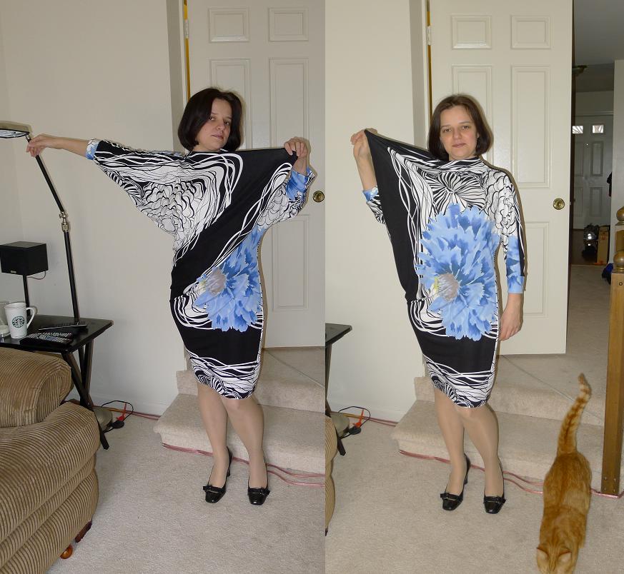 платье из ткани с купоном фото