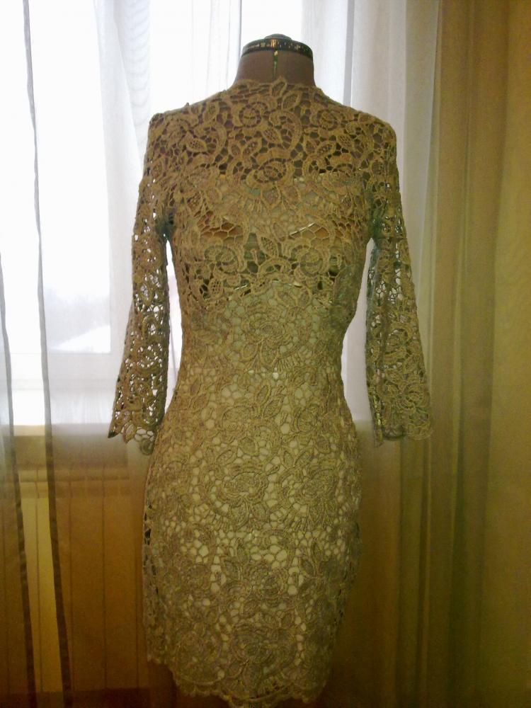 Пошив платья своими руками из гипюра 24