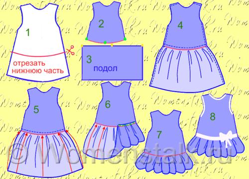 Платье для девочки своими руками для начинающих 2