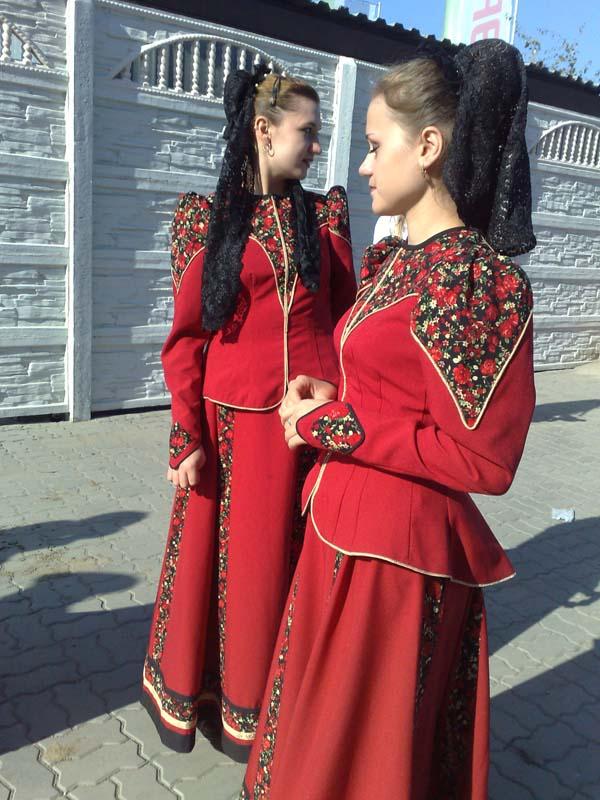 Казачье женское платье фото