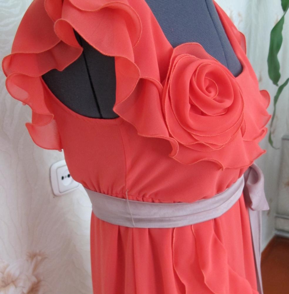 Как своими руками сделать розу на платье из