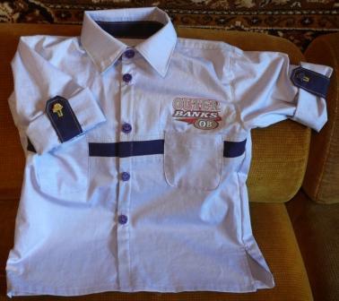 Рубашка с длинным рукавом, который превращается в короткий