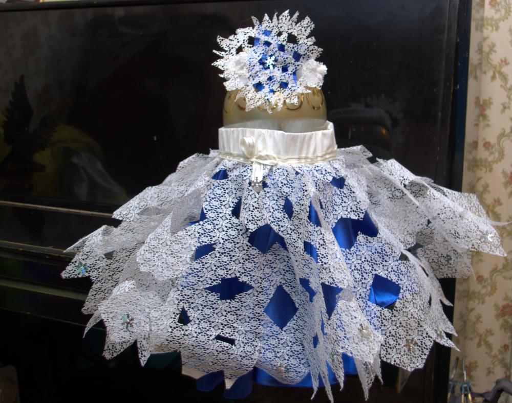 Новогоднее платье снежинка своими руками