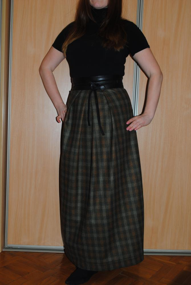 Как сшить теплую юбку длинную