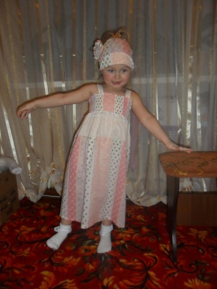 Легкое платье резинка