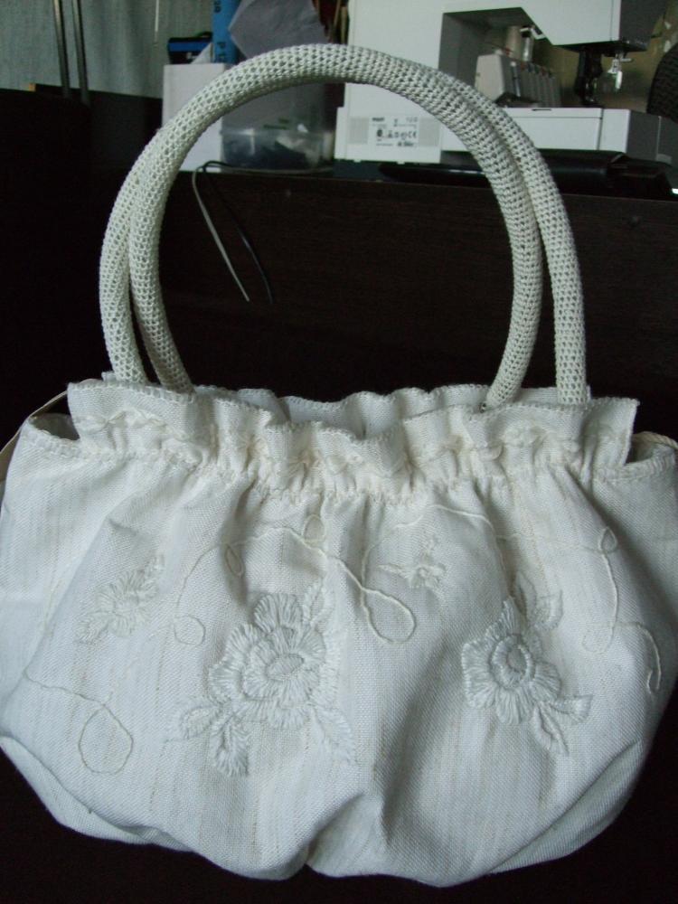 сумка из остатков льна для штор