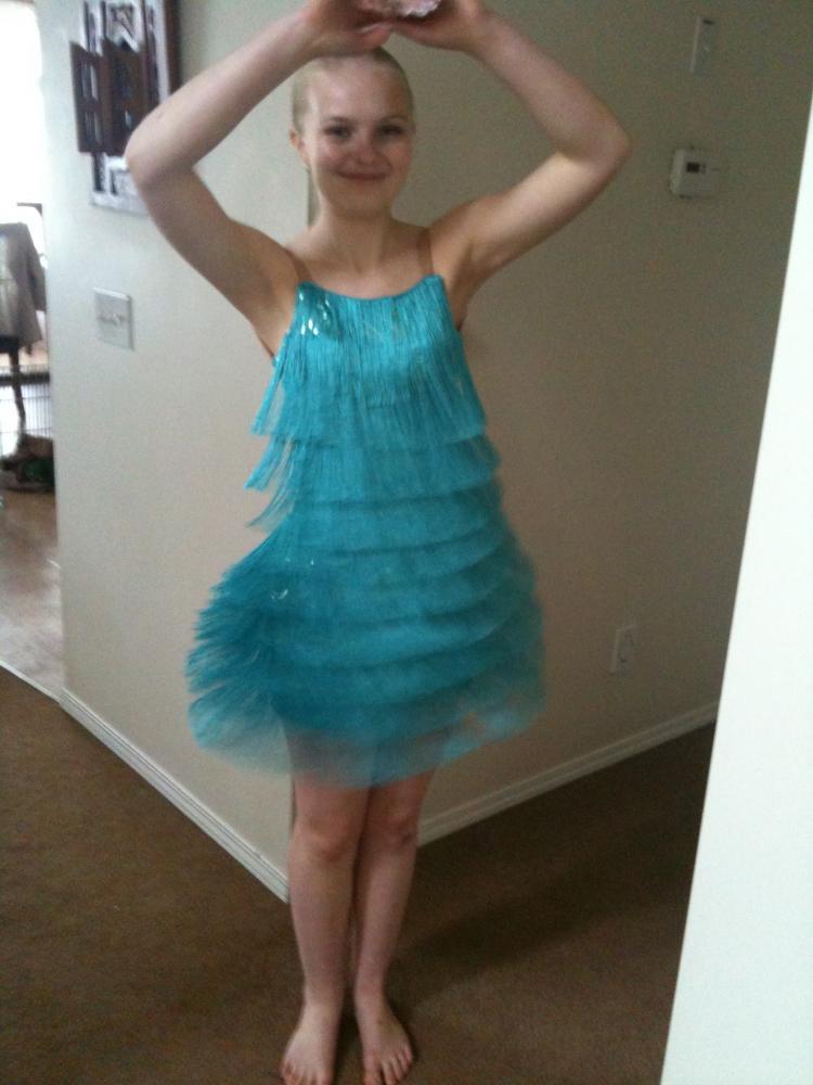 Платье с бахромой для девочки