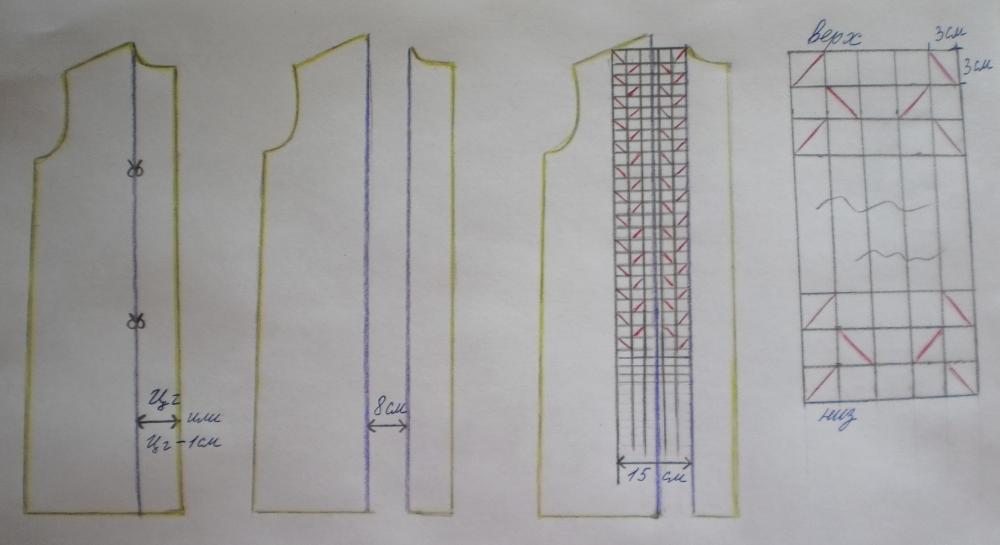 Схема платья основа прямого платья