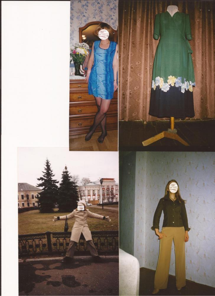 Платье,платье,пальто и кепка,брюки и блузон