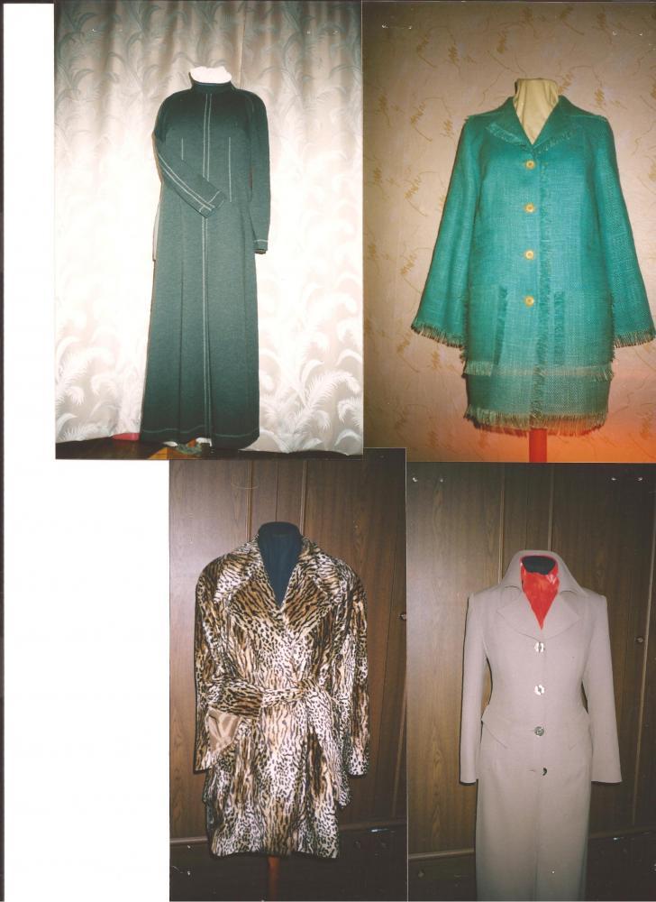 Платье,жакет,лёгкое пальто и меховой плащ