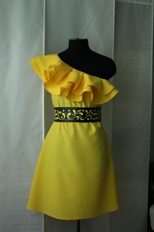 Как делают воланы на платье
