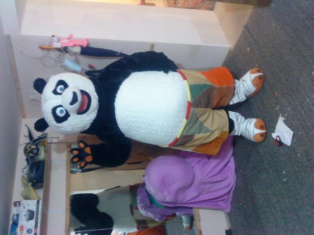 ростовая кукла панда кун-фу