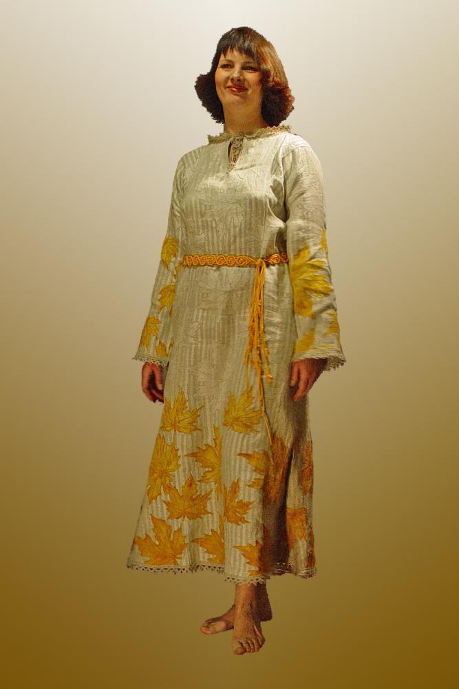 Платье с косыми поликами