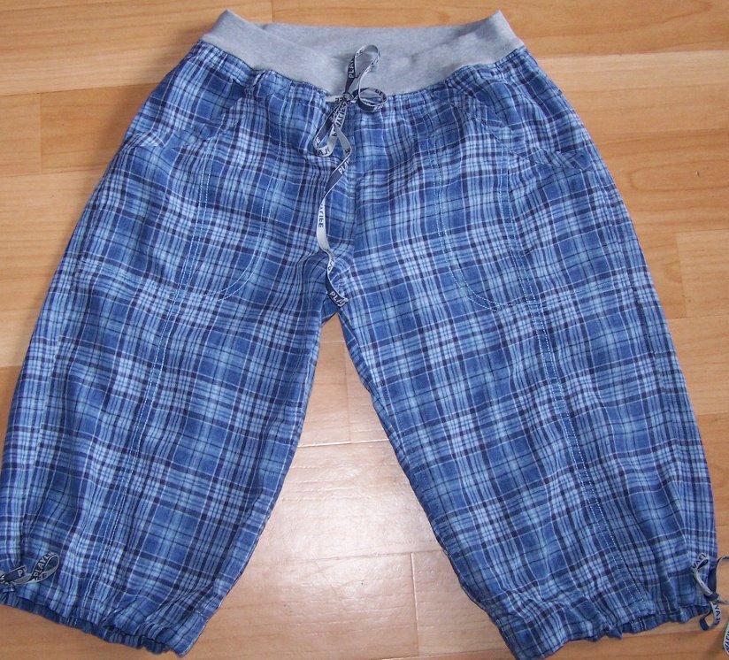 Льняные штаны панталончиками