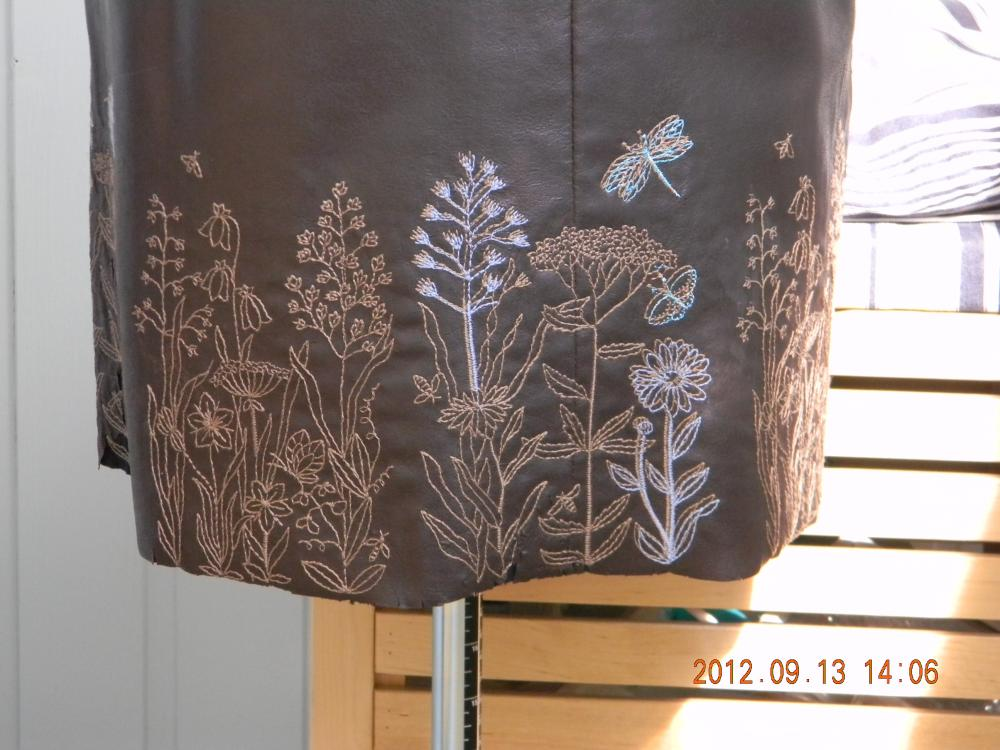 юбка из кожзама