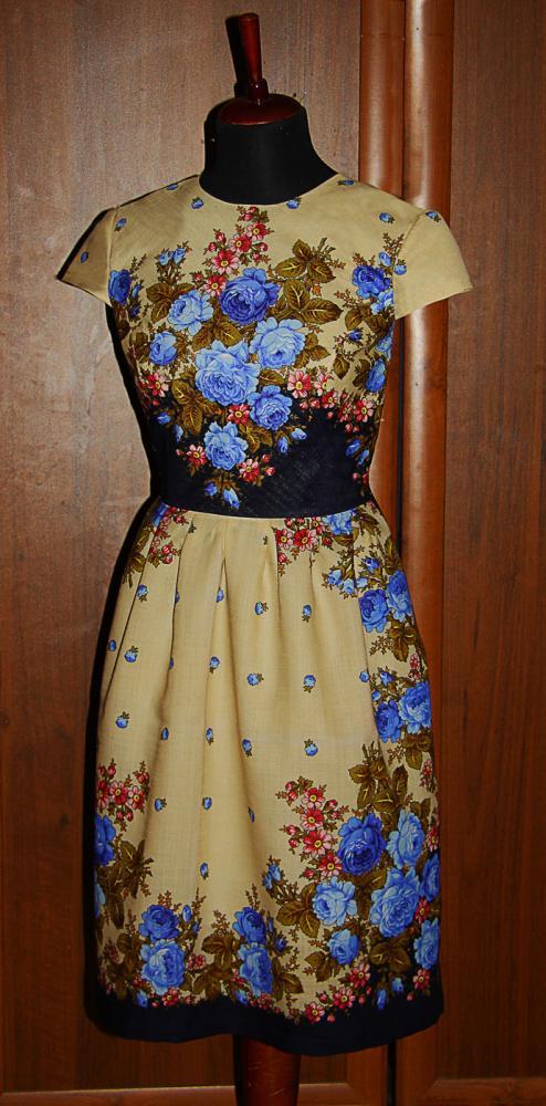 Платье из павлопосадского платка своими руками