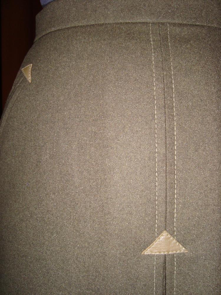 Юбка с кожаными треугольниками