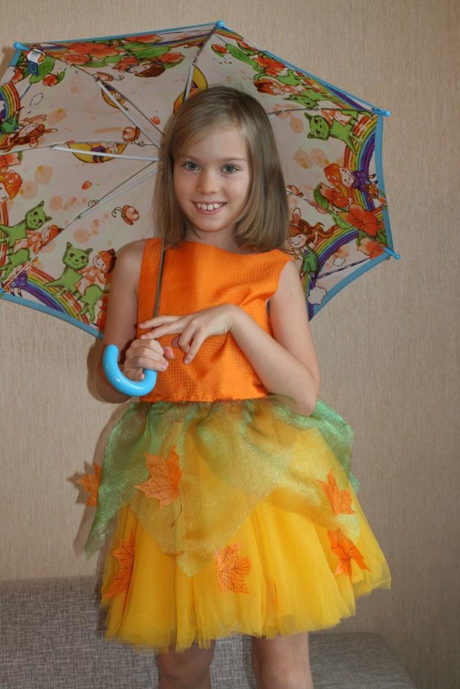 Детский костюм осени своими руками фото