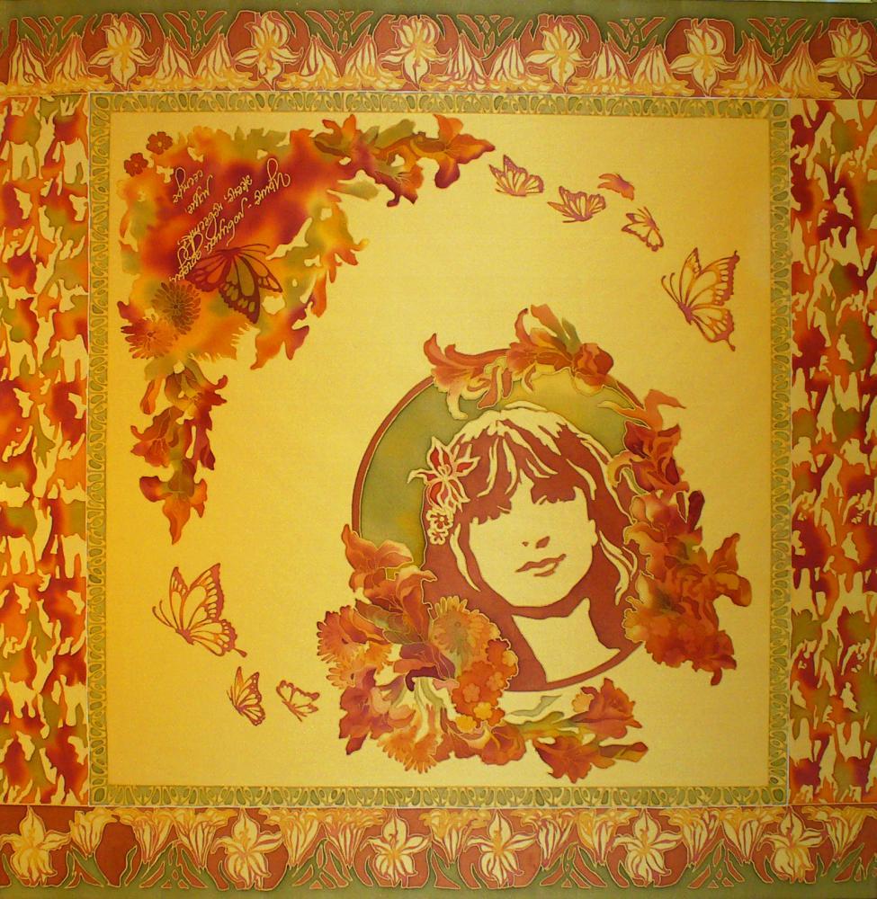 Именной платок с портретом и поздравлением