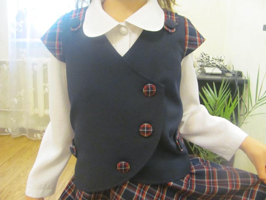 Школьная жилетка своими руками выкройка
