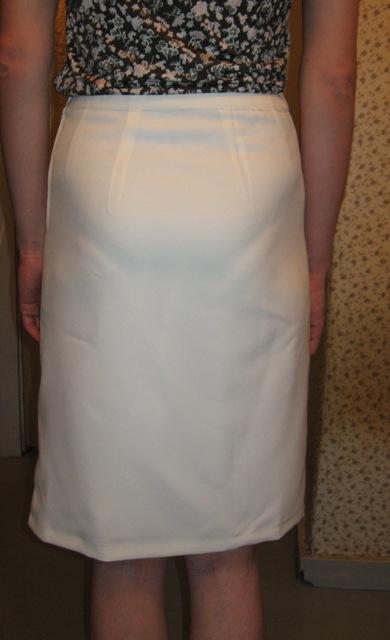 юбка из молочного габардина