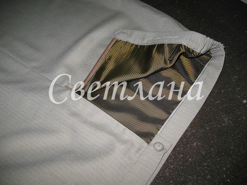 """Простенькая юбка на подкладке из """"ткани из сундука&quot"""
