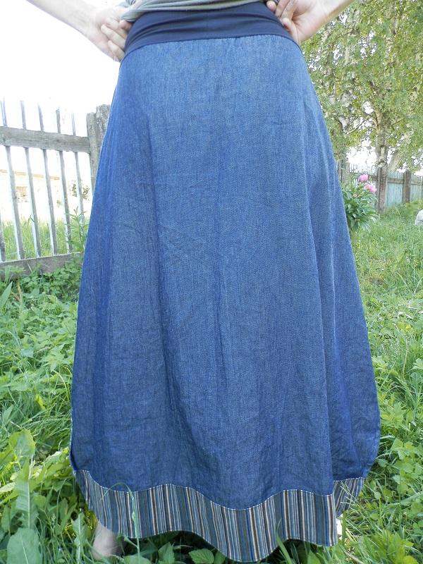 Сшить юбку из кусков ткани