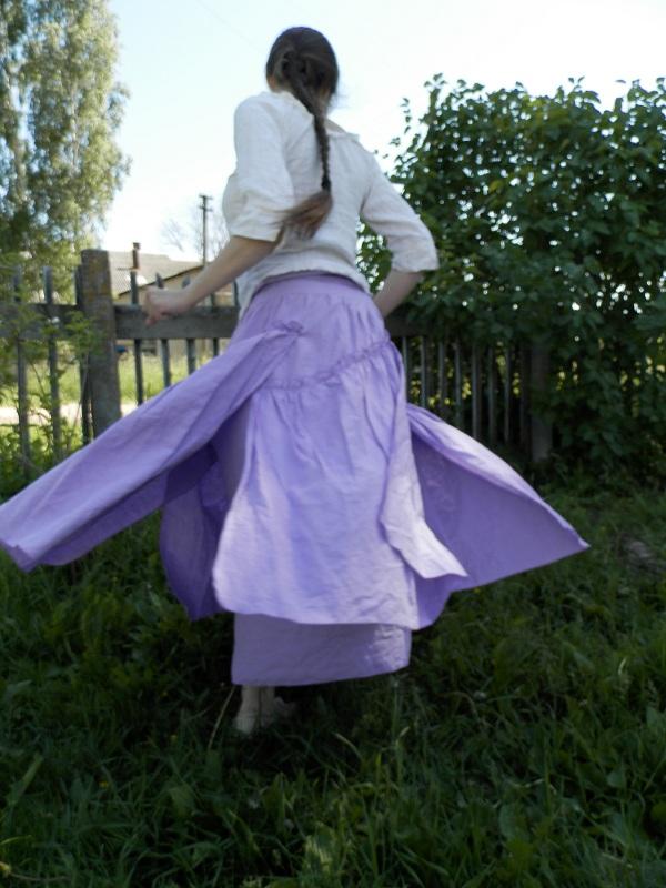 Сиреневая юбка-2.