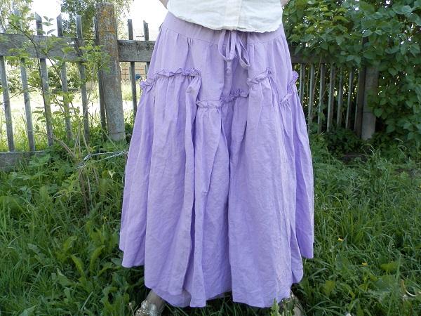 Сиреневая юбка.