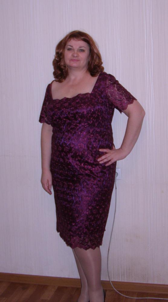 платье из кружевного на атласе фото