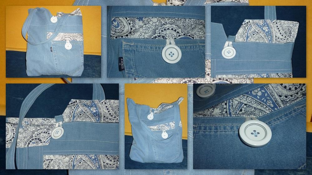 Летняя сумка из легких джинс