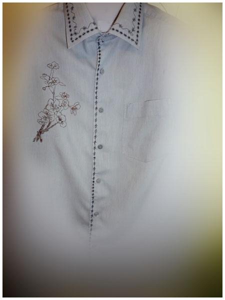 Домашняя блузка из мужской сорочки.