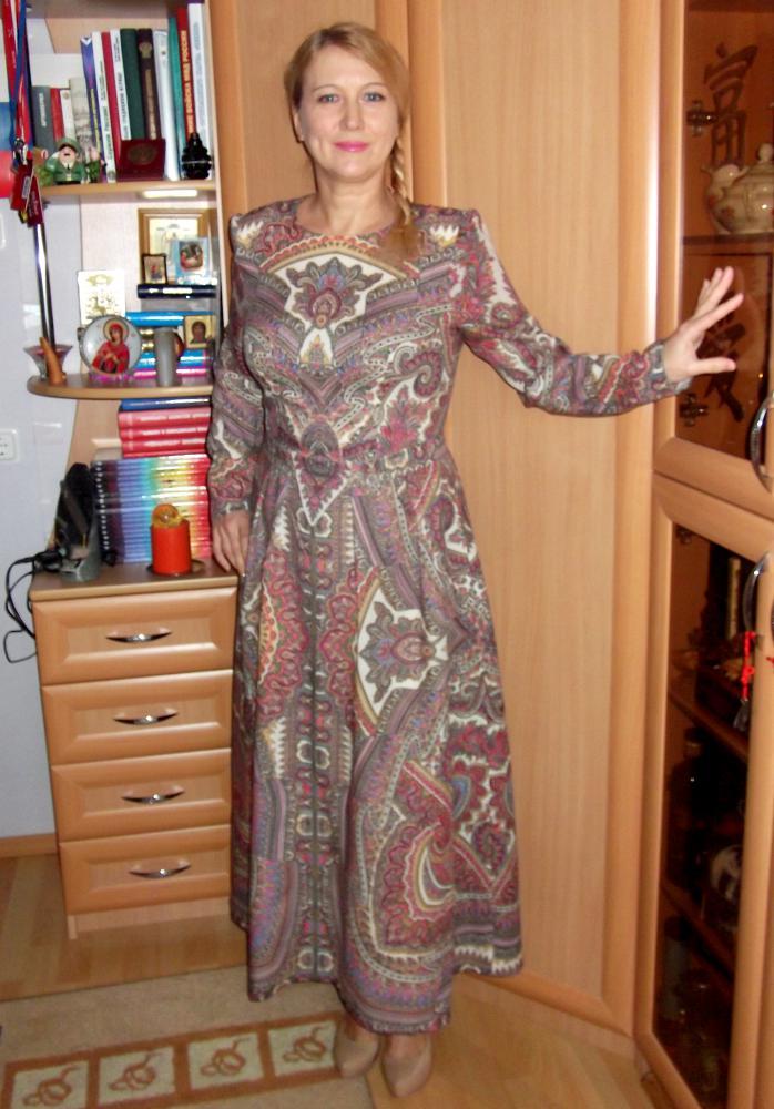 Мое первое платье из ПП платков