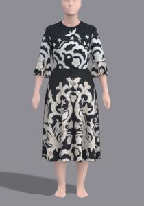Платье расклешённое из купона0.png