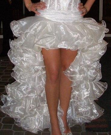 Как сшить пышную юбку из воланов