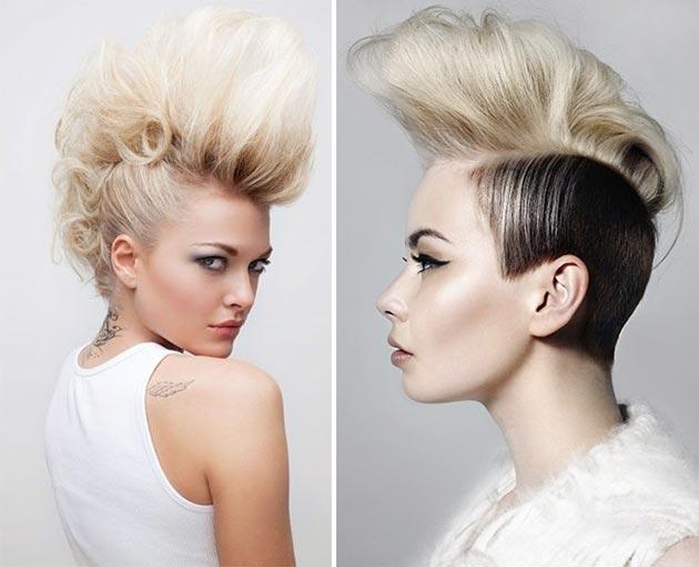 Как сделать ирокезом из волос