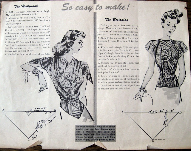 Как сшить блузку из палантина