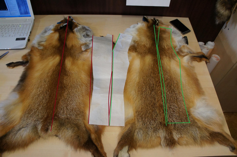 Как сшить жилет из лисы - PROFUR 687