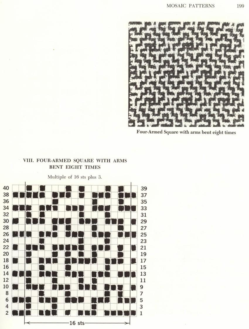 Вязание и схемы ленивого жаккарда 611