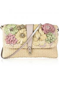 Кожаная сумка Valentino - Сумка-тоут из зернистой