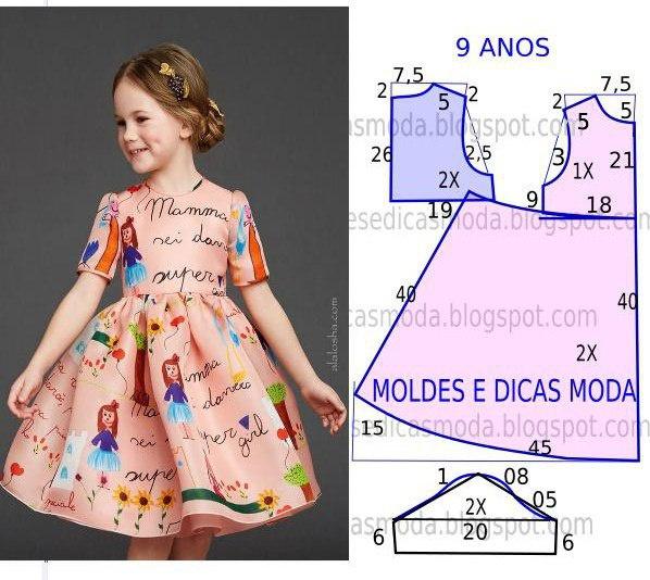 Выкройка для платья для девочки 12 лет своими руками