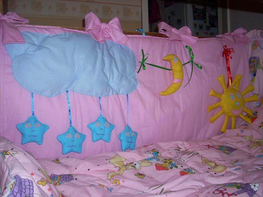 Развивающие бортик в кроватку своими руками