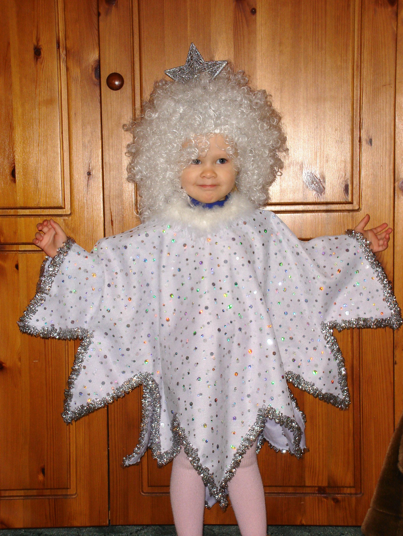 Как сделать костюм снежинки на новый год своими руками