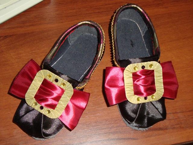 Обувь для карнавального костюма своими руками