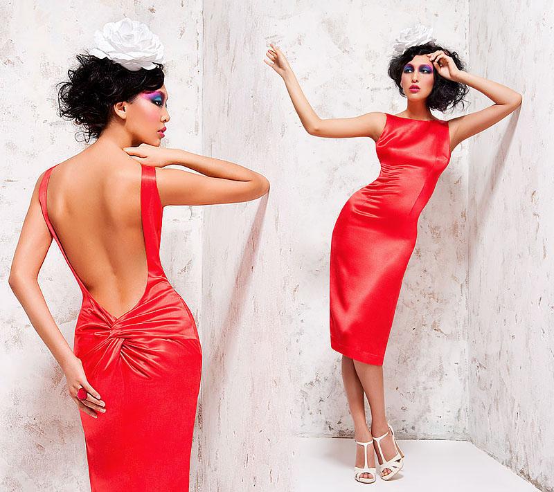 Платья разрез на попе