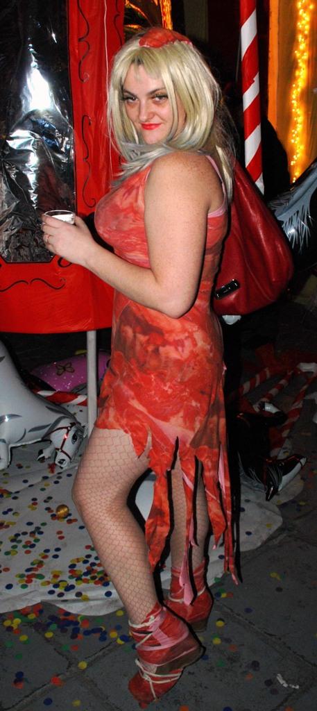 Платье леди гаги из хомяков фото