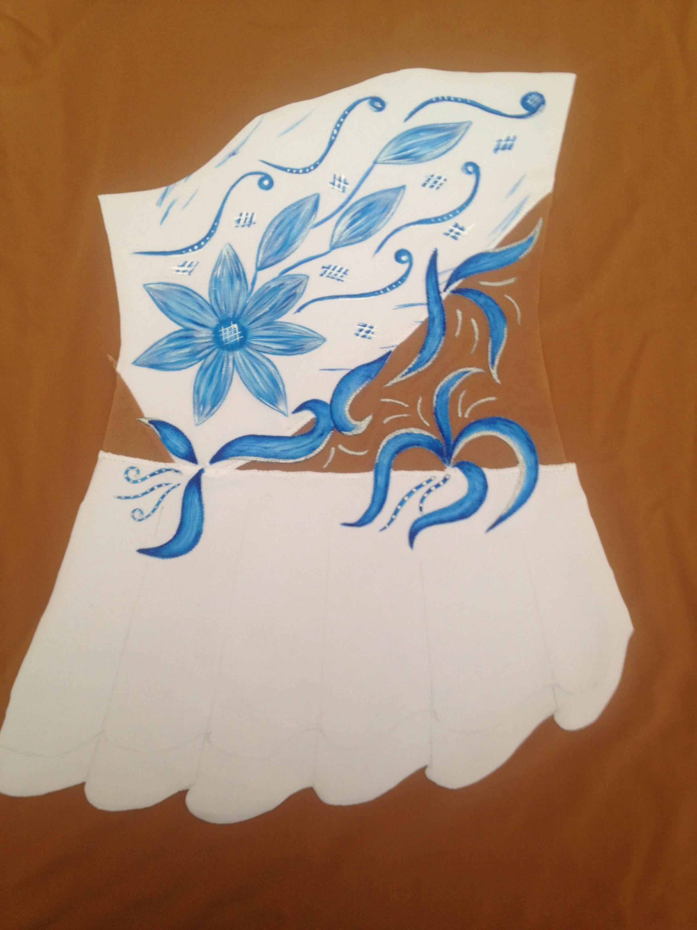 Рисуем на купальнике по художественной гимнастике 78