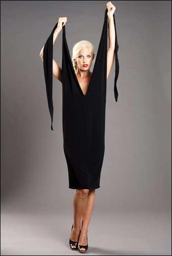 Длинное платье без швов