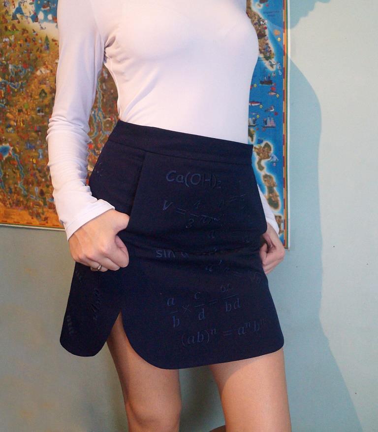 шпаргалками юбка с