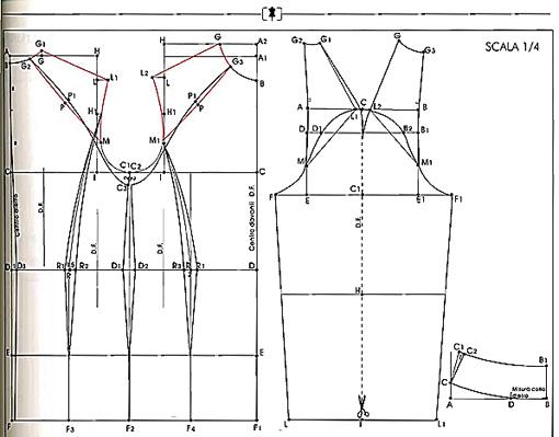 Построение выкроек рукав реглан 3